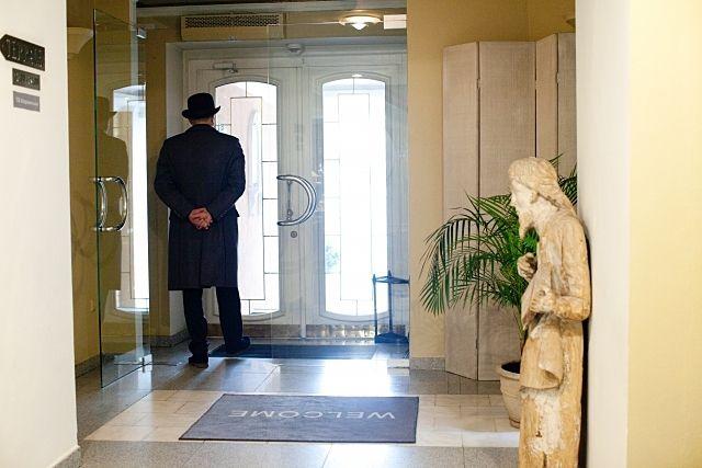 綺麗なホテルの玄関