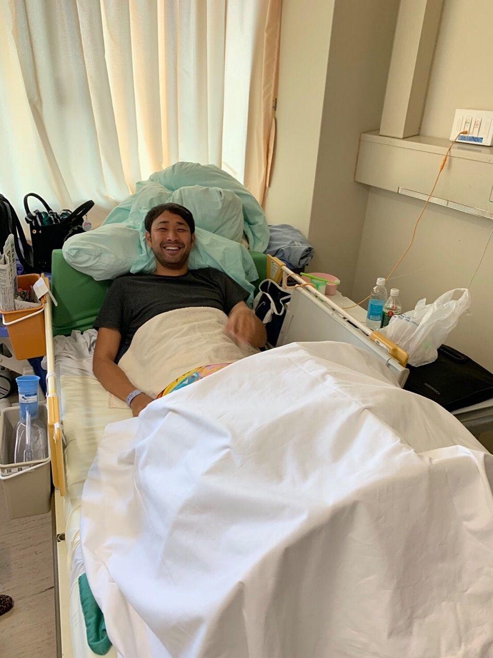 足を骨折して人生初の入院生活!